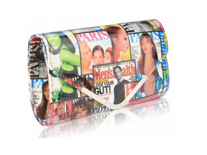 LS Fashion společenská kabelka LS0249 bílá