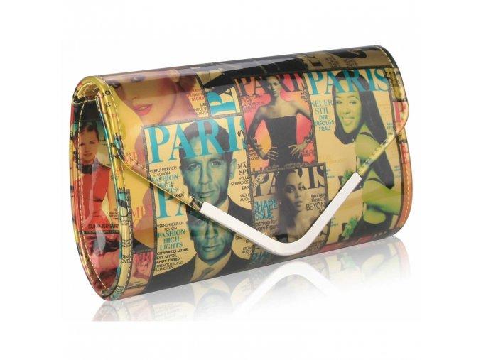 LS Fashion společenská kabelka LS0249 zlatá