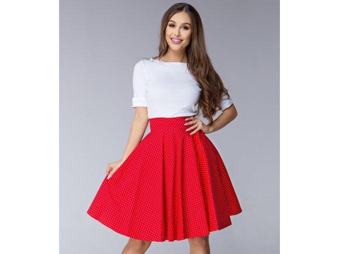 Dámská sukně Twist červená malý puntík