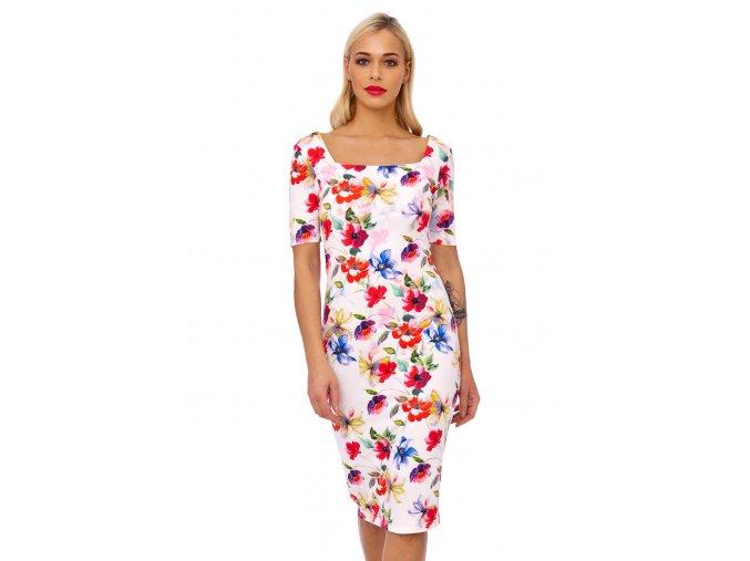 Pouzdrové šaty Divočina květin