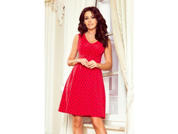 Dámské šaty Stella červené s puntíky