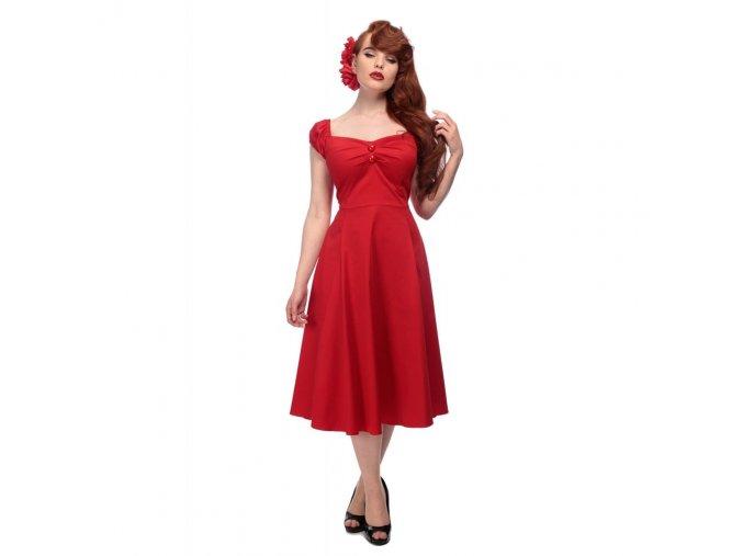 Dámské retro šaty Dolores červené
