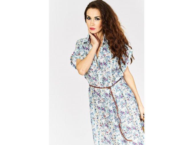 kwiecista sukienka z paskiem 8080 (2)