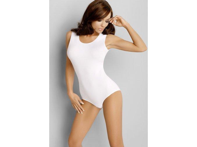 Dámské Body Kasandra bílé bez rukávů (Velikost L)
