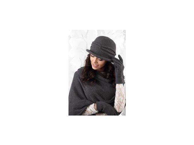 KAMEA VERONA kapelusz damski grafitowy
