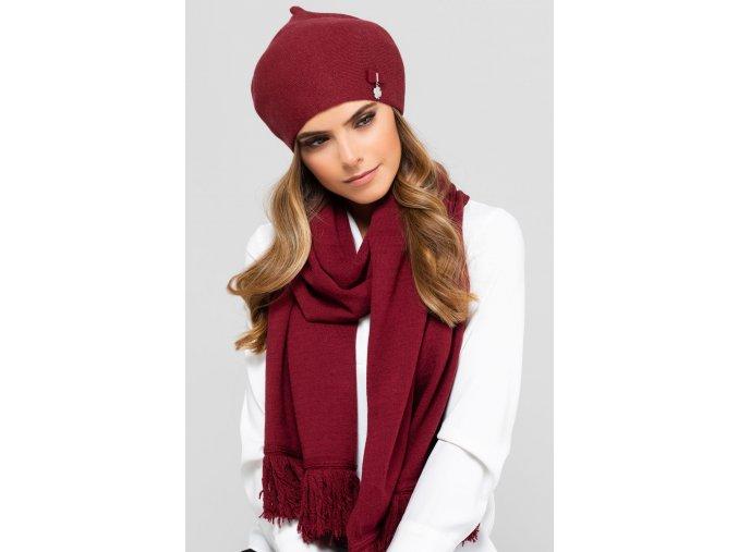 MURCJA beret damski bordowy (1)