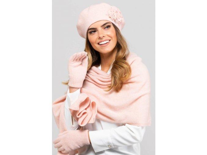 KAMEA BARCELONA beret damski lososiowy