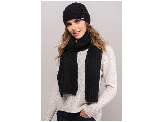 MAGNOLIA czapka damska czarna(1)