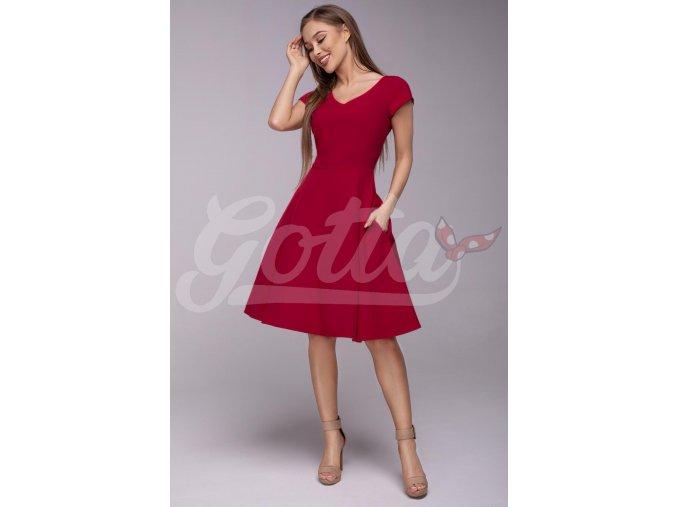 Dámské šaty Flamenco červené