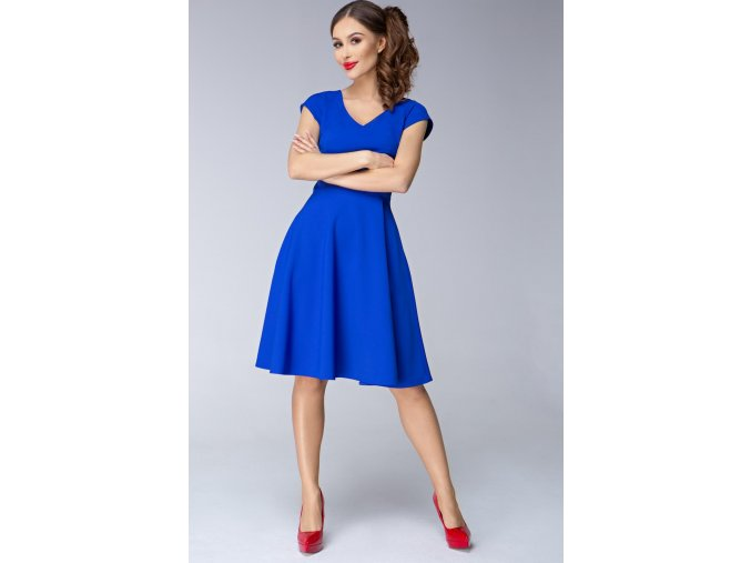 Dámské šaty Flamenco modré