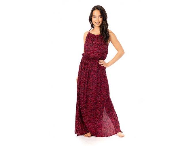 Dámské maxi šaty Geometric červené