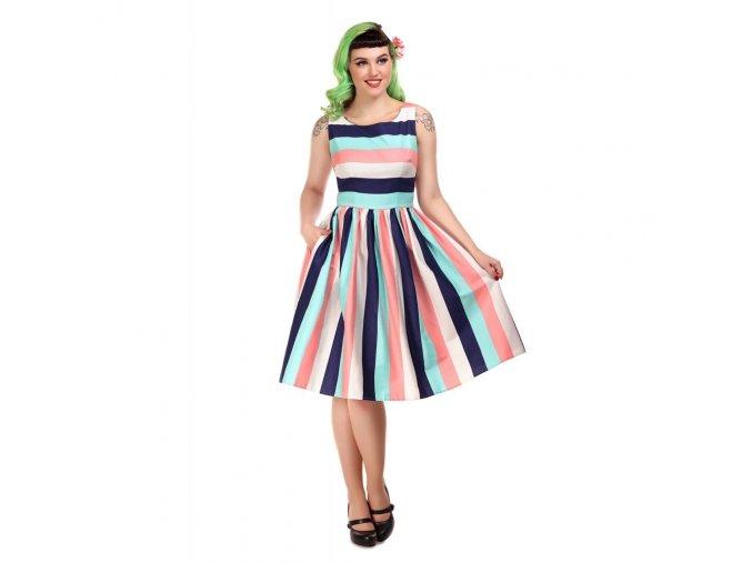 Dámské retro šaty Candice proužky