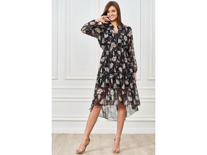 sukienka midi z kwiecistym printem (1)