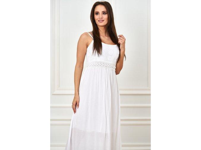 sukienka na ramiaczka z ozdobna koronka