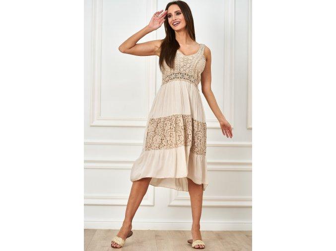 sukienka midi z koronka (5)