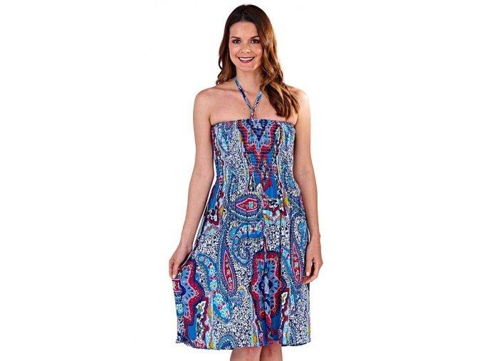 Dámské letní šaty/sukně 3v1 Etno modré