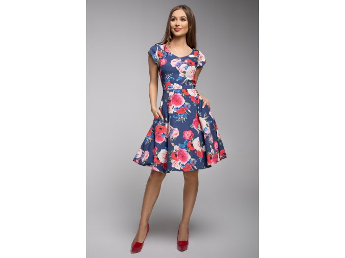 Dámské šaty Flamenco modré růže