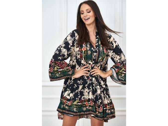 sukienka w printem w kwiaty