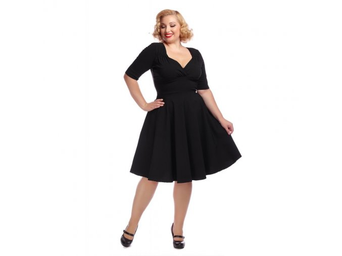 Dámské retro šaty Trixie Doll černé