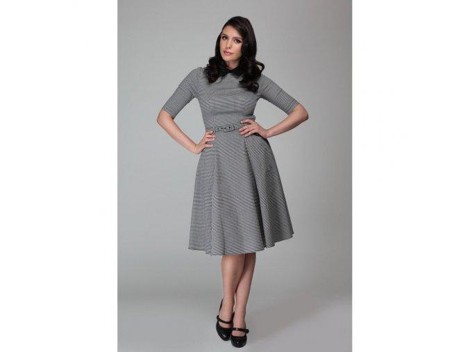 Dámské retro šaty Winona koštičky