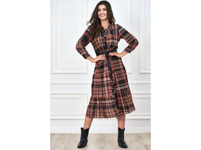 koszulowa sukienka w krate (7)