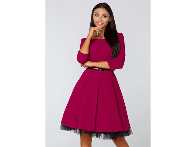 Dámské šaty Podzimní melodie, bordo
