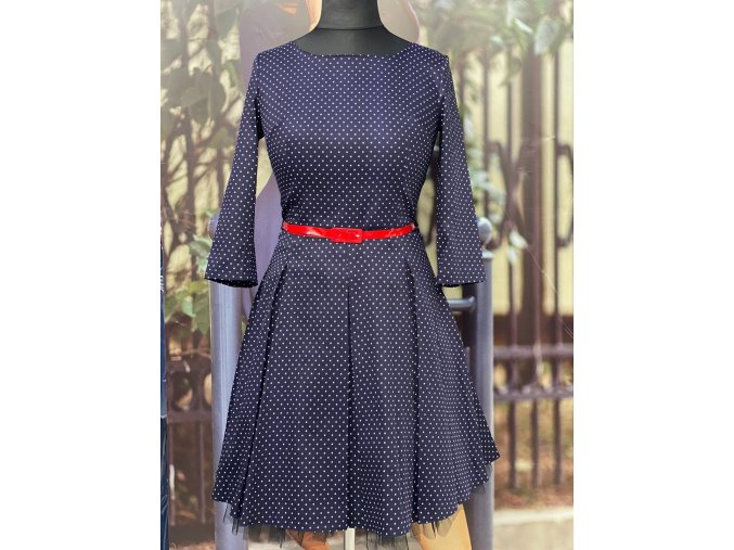 Dámské šaty Podzimní melodie, malý puntík