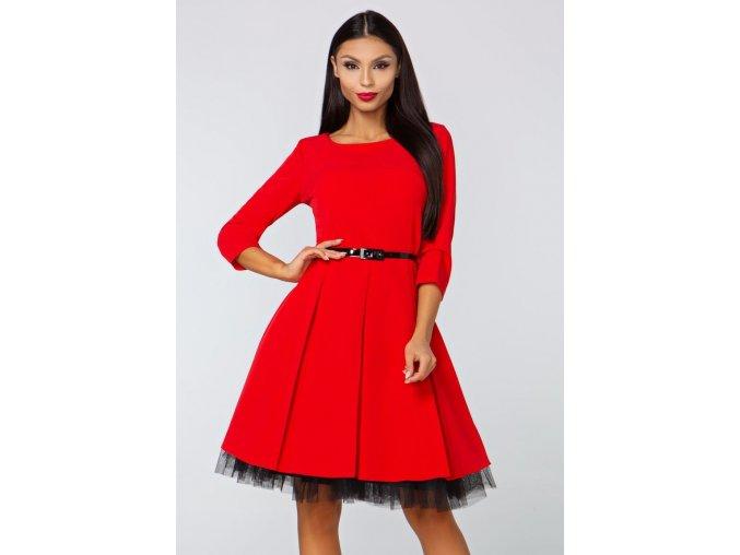 Dámské šaty Podzimní melodie, červené