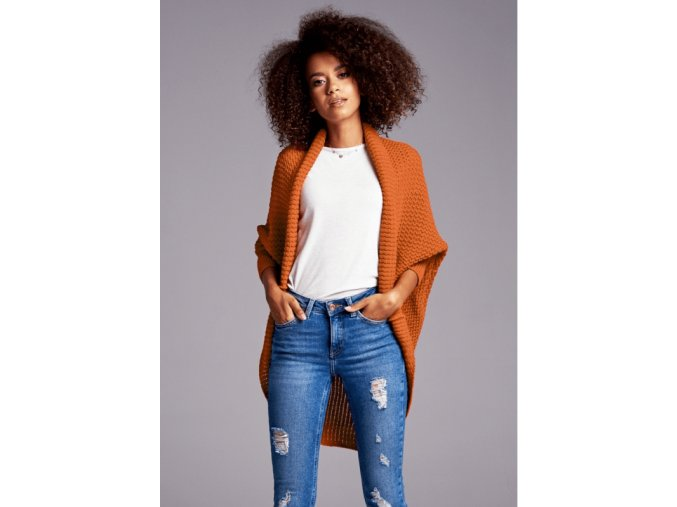 sweter narzutka oversize ilm a01 pomaranczowy (1)