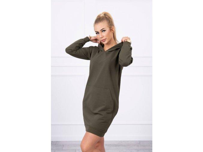 eng pl Hooded dress khaki 17897 3