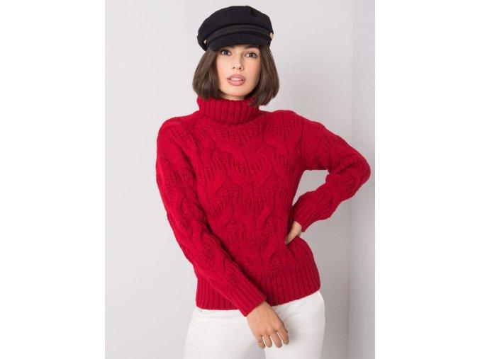 pol pl Ciemnoczerwony sweter Memphis RUE PARIS 355170 2