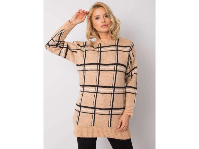 pol pl Ciemnobezowy sweter Joella RUE PARIS 355315 5