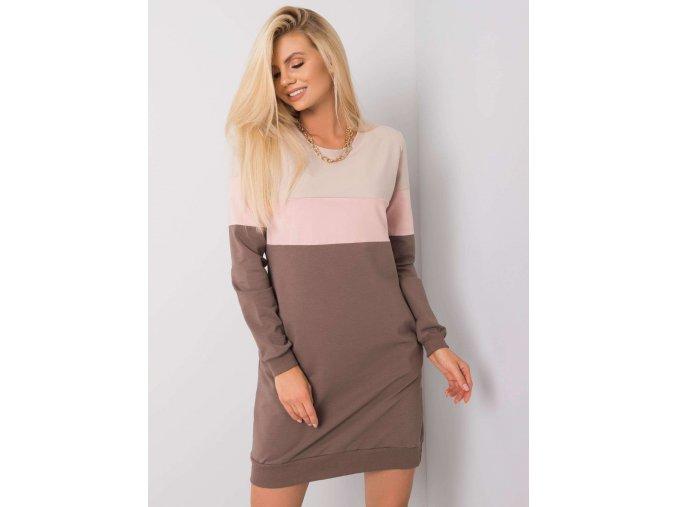 pol pl Bezowo rozowa sukienka Feliciana RUE PARIS 356101 4
