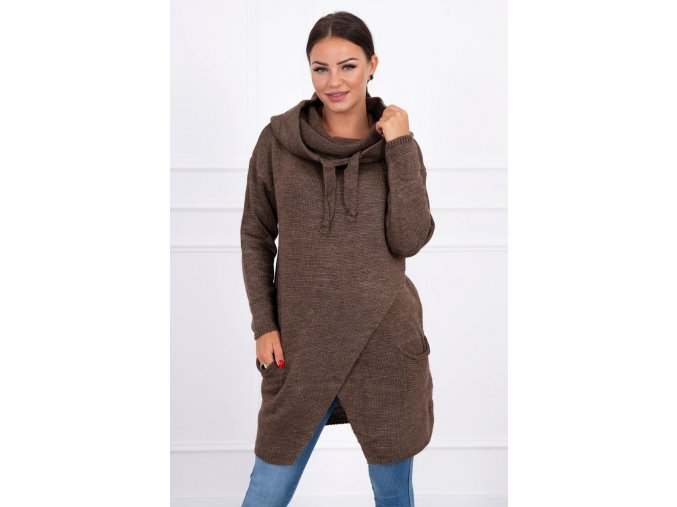 eng pl Sweater with envelope bottom cappuccino 15653 3