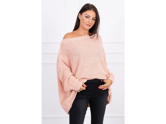 eng pl Sweater Oversize powdered pink 15720 1