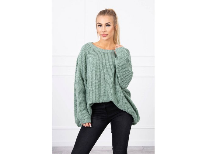 eng pl Sweater Oversize dark mint 19179 1