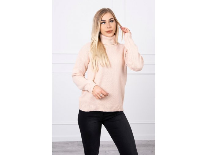 eng pl Sweater with a turtleneck powder pink 18773 4