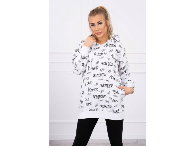 eng pl Sweatshirt with inscriptions white 19731 3