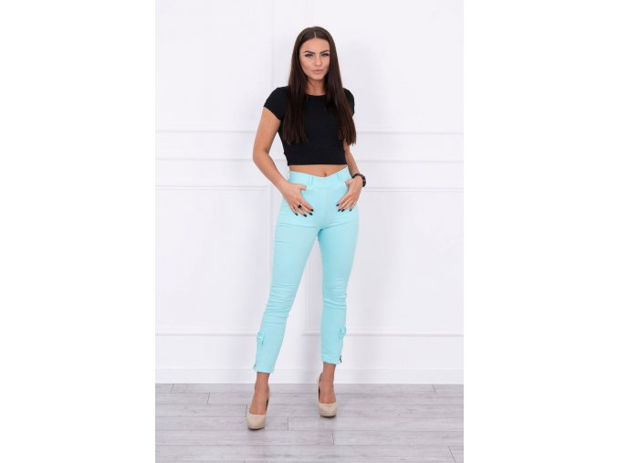 eng pl Colorful jeans with bow azure 14631 1