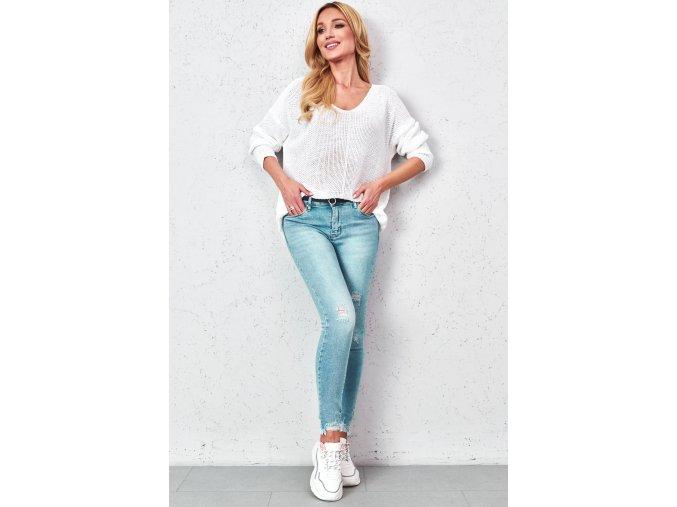 spodnie jeansowe skinny z paskiem