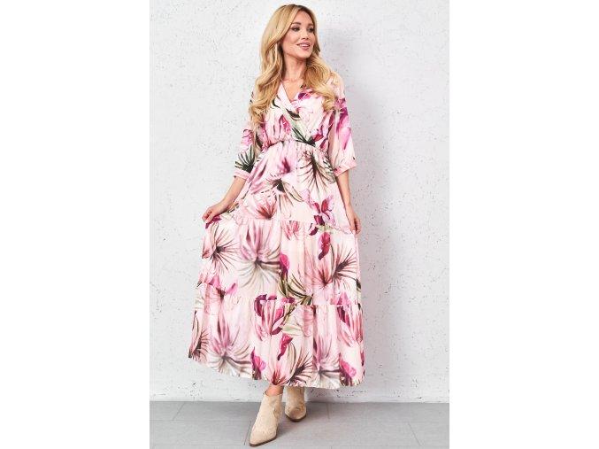 dluga sukienka z printem w kwiaty (1)