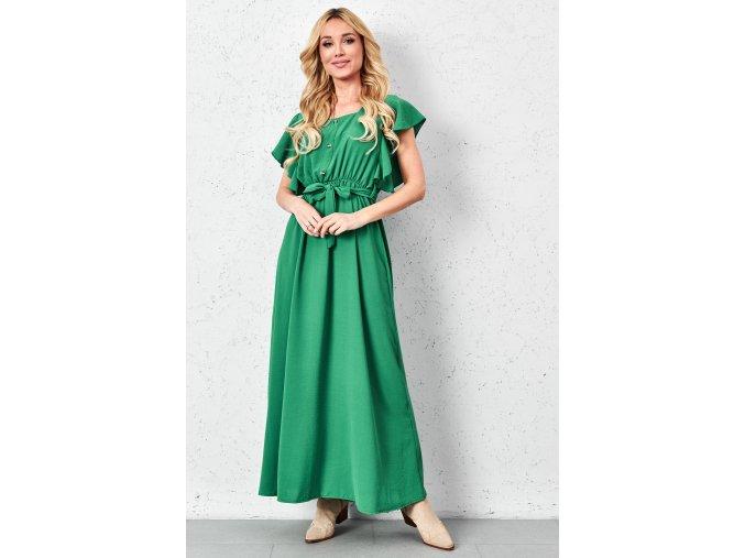 wiazana sukienka maxi z falbanami (5)