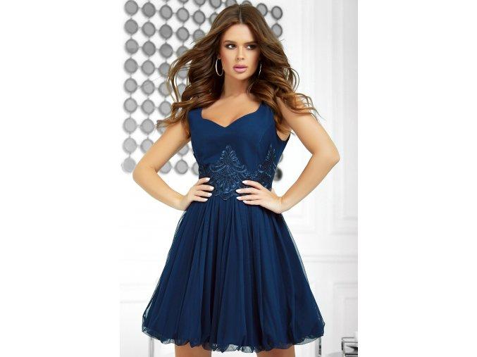 Dámské šaty Madonna tmavě modré