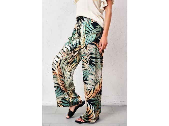 spodnie o luznym kroju w tropikalne wzory (8)