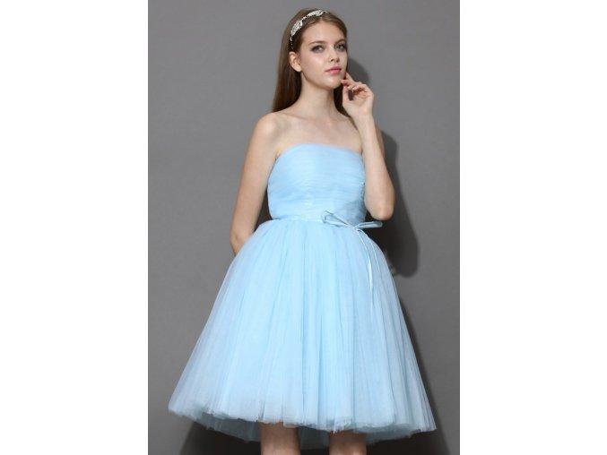 Chicwish Tutu šaty Mořská pěna modré (Velikost L)