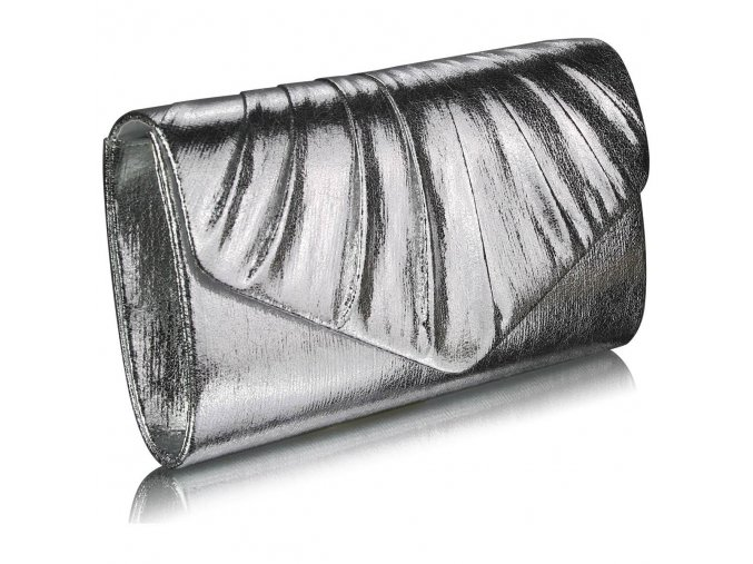 LS Fashion společenská kabelka LSE0068 stříbrná