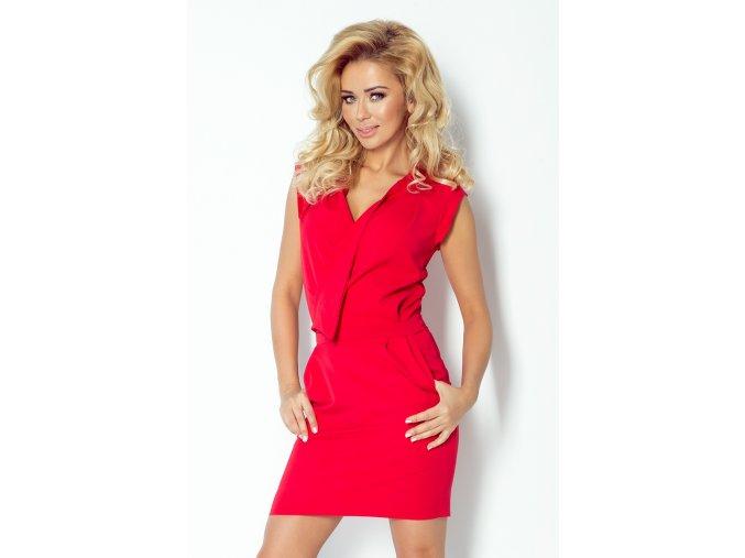 Dámské šaty Skládačka červené (Velikost L)