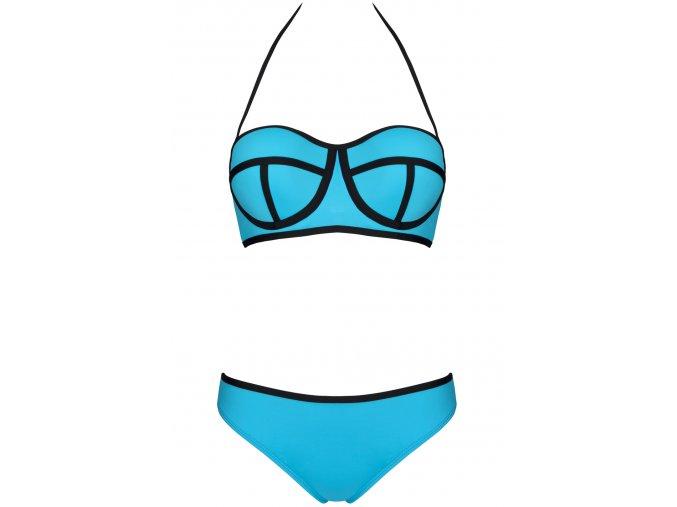 Dámské plavky Ingrid modré (Velikost L - košíček D)