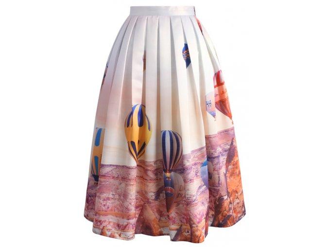 Dámská sukně Midi Vzhůru do oblak! (Velikost L)