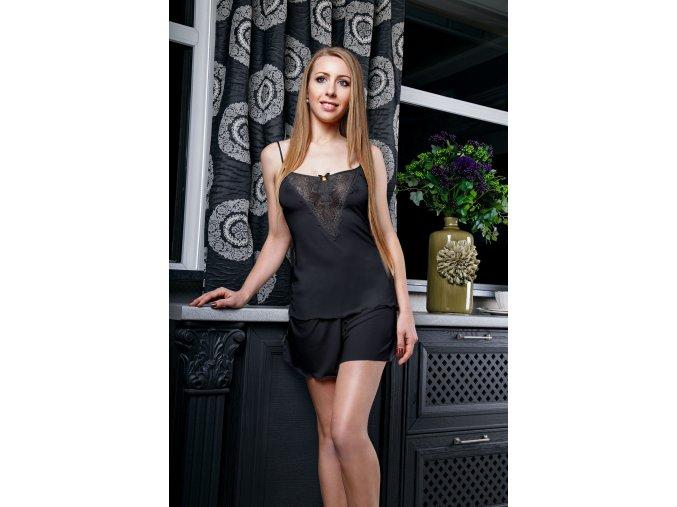 Dámské pyžamko Flirty černé (Velikost L)